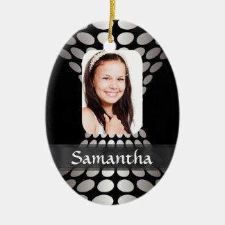 Modern personalized photo template christmas ornament