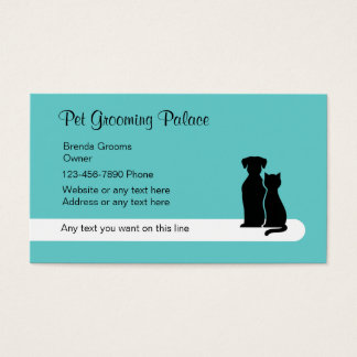 Modern Pet Grooming Business Cards