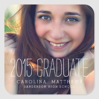 Modern Photo 2015 Graduation Sticker