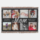 Modern Photo Blanket for Mum   Black and White