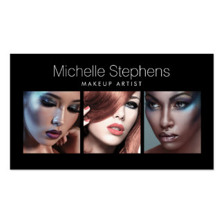 Modern Photo Card for Makeup Artists, Stylists II Pack Of Standard Business Cards