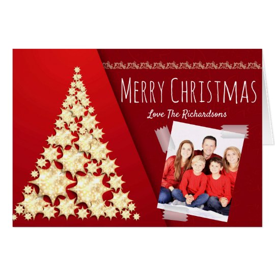Modern PHOTO Christmas Card Personalized