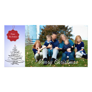Modern Photo Christmas Cards Photo Card Template