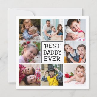 Modern Photo Collage  |  Best Daddy Ever
