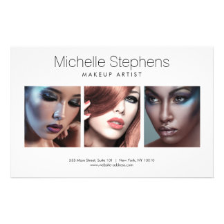 Modern Photo Flyer for Makeup Artists, Stylists