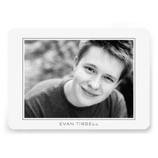 Modern Photo Frame Graduation Party Horizontal Personalized Announcement