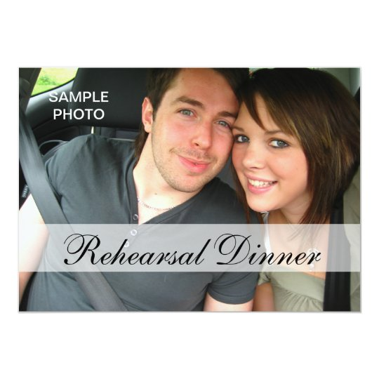 Modern Photo Rehearsal Dinner Invitations