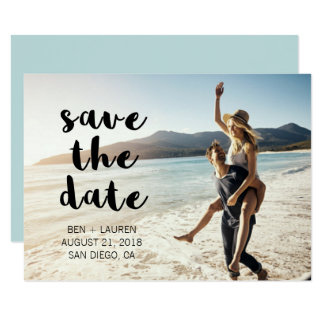 Modern Photo Save the Date Announcement