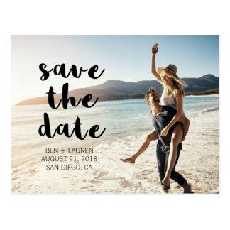 Modern Photo Save the Date Postcard
