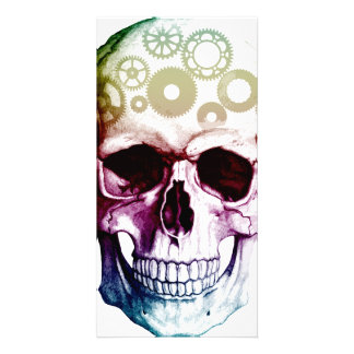 Modern Photo Skull Personalized Photo Card