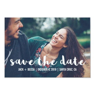 Modern Photo Typography Save the Date Announcement