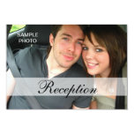 Modern Photo Wedding Reception Cards Personalized Invitation