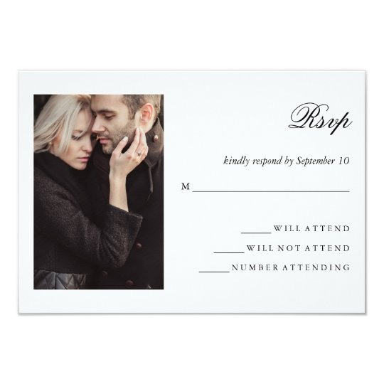 Modern Photo | Wedding RSVP Card