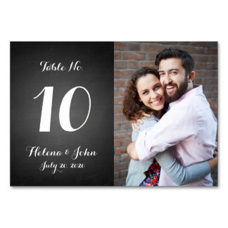 Modern Photo Wedding Table Number Card Table Cards