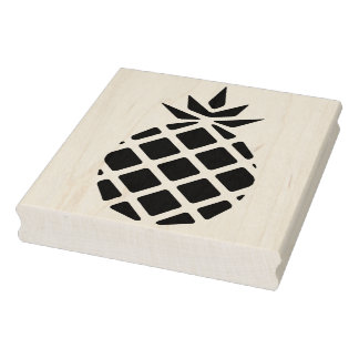Modern Pineapple Silhouette Rubber Art Stamp