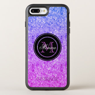 Modern Pink And Blue Gradient Glitter OtterBox Symmetry iPhone 8 Plus/7 Plus Case