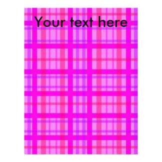 Modern pink and violet plaid flyers