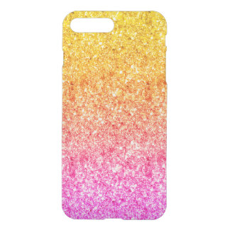 Modern Pink And Yellow Faux Glitter iPhone 8 Plus/7 Plus Case