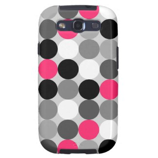 Modern pink, black and white Samsung Galaxy S Case Galaxy S3 Case
