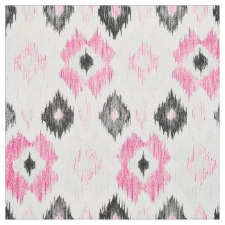 Modern pink black trendy ikat pattern
