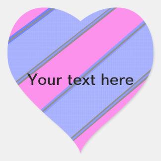 Modern pink blue diagonal stripes sticker