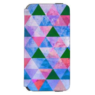 Modern Pink, Blue & Green Geometric Design Incipio Watson™ iPhone 6 Wallet Case