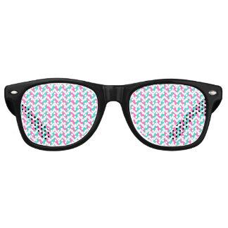 Modern Pink Blue White Chic Chevron Pattern Retro Sunglasses