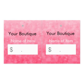 Modern Pink Boutique Hang Tags Soft and Chic Pack Of Standard Business Cards