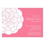 Modern Pink Dahlia Bloom Birthday Party Cards