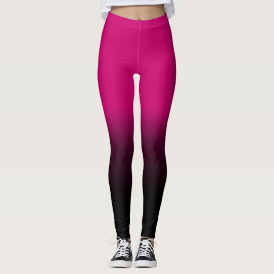 Modern pink, elegant black Leggings