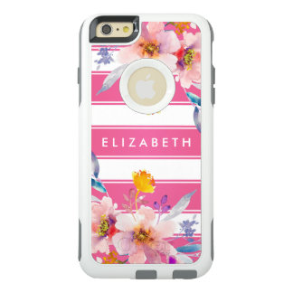 Modern Pink Floral OtterBox iPhone 6/6s Plus Case
