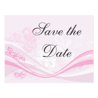 modern-pink-floral Save the Date Postcard