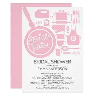 Modern Pink Kitchen Bridal Shower Invitation