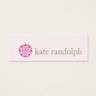 Modern Pink Lotus Flower Beauty Salon and Spa Mini Business Card