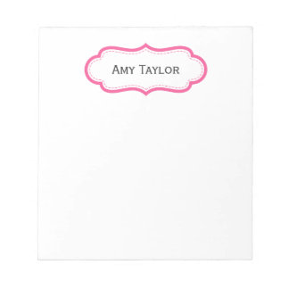 Modern Pink Personalized Notepad