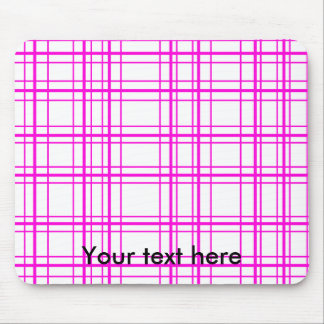 Modern pink plaid on white background mouse pads