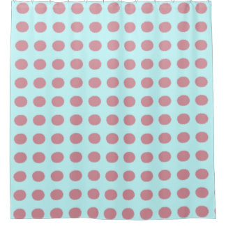 Modern Pink Polka Dot Pattern Shower Curtain