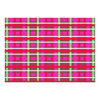 Modern pink red and green plaid announcement