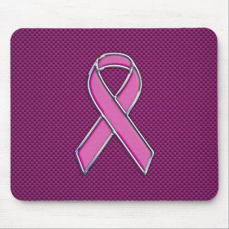Modern Pink Ribbon Awareness Design Mouse Mat