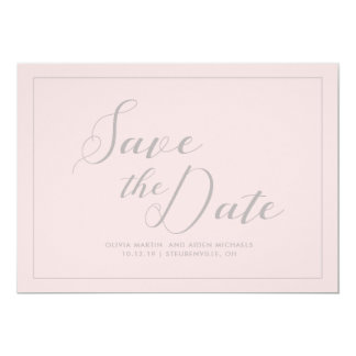 Modern Pink Save the Date Card