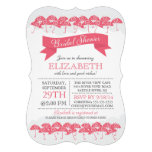 Modern Pink Umbrella Bridal Shower Invitations