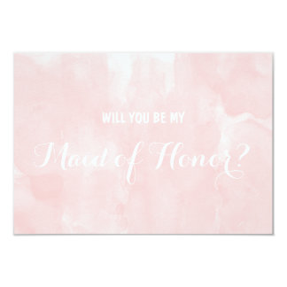 Modern pink watercolor Will you be my 9 Cm X 13 Cm Invitation Card