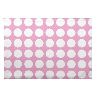 MODERN PINK, WHITE POLKA DOTS PLACEMATS