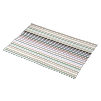 Modern Place-mats In Muted Stripe Print Placemat