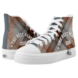 Modern Plaid THE BEST PLAYER 2016 Custom Printed Shoes