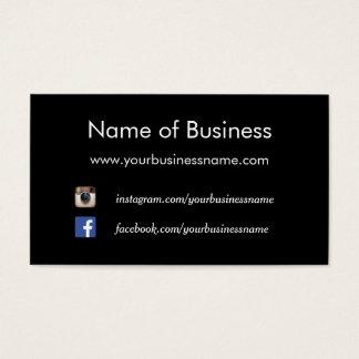 Modern Plain Black Social Media Websites