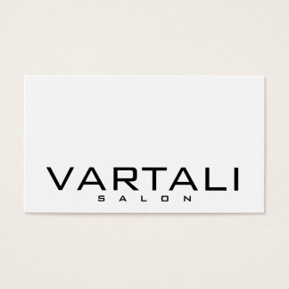 Modern Plain Black White Salon Business Card