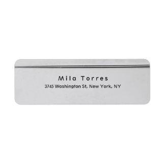 Modern Plain Elegant Unique Silver Grey Return Address Label