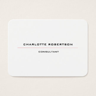 Modern Plain Minimalist Special Black White Red Business Card