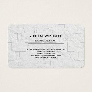 Modern Plain Simple Grey Wall Attractive Stylish Business Card